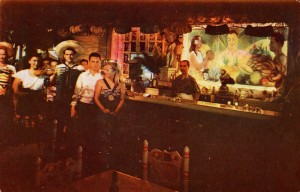 Celebrity Bar, tropical and glamorous, Diego Rivera mural, Old Hearst Ranch, Pleasanton, California