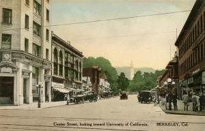 Center Street, looking toward University of California, Berkeley, California