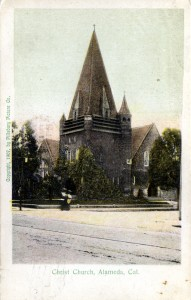 Christ Church, Alameda, California, mailed 1909