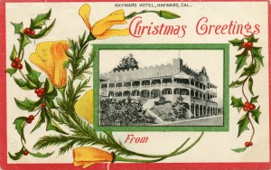 Christmas Greetings, Hayward Hotel, Hayward, California