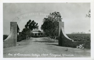 Concannon Vineyard, one of Livermore Valley's Oldest Vineyard Wineries, 1943