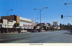 Downtown street scene, Hayward, California
