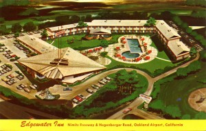 Edgewater Inn at Nimitz Freeway and Hegenberger Rd., Oakland, California