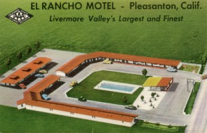 El Rancho Motel, One mile off U.S. Highway 50, Pleasanton, California