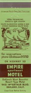 Empire Apartment Motel, 9451 MacArthur Blvd., Oakland, California