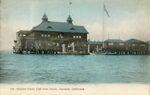 Encinal Yacht Club boat house, Alameda, California