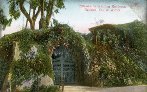 Entrance to Schilling Residence, Oakland, California in Winter