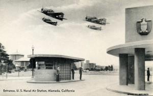 Entrance, U. S. Naval Air Station, Alameda, California