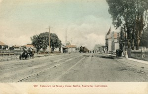 Entrance to Sunny Cove Baths, Alameda, California