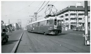 F Train to San Francisco, Shattuck Ave., Berkeley, California 1950
