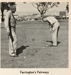 Farrington's Fairways, six hole golf course just inside the main gate, Alameda Naval Air Station, Alameda, California