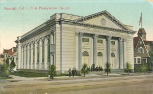 First Presbyterian Church Alameda, California, mailed 1911