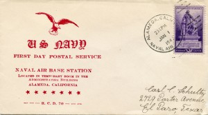First Day Postal Service, Naval Air Base Station, Alameda, California, January 01, 1941
