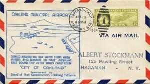 First East Bound Trip, Oakland Municipal Airport, Apr. 19, 1934