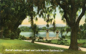 Foot of Jackson Street and Lake Merritt, Oakland, Cal., mailed 1909
