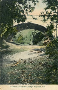 Foothills Boulevard Bridge, Hayward, California, mailed 1908