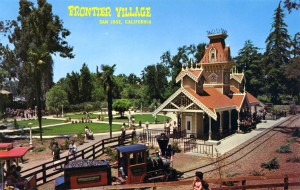 Frontier Village Railroad Station with unique design, Frontier Village, San Jose, California