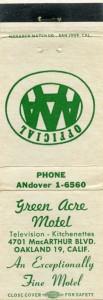 Green Acre Motel, 4701 MacArthur Blvd., Oakland, Calif.