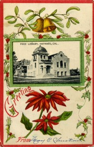 Greeting from Hayward, California, Free Library
