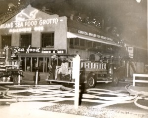 Oakland Seafood Grotto Restaurant, Night Fire 1962