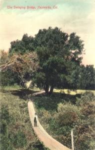 The Swinging Bridge, Haywards, Cal., mailed 1908