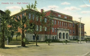 High School, Alameda, Cal., mailed 1910