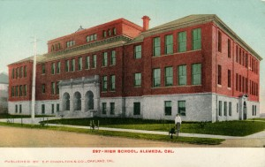 High School, Alameda, Cal., mailed 1906