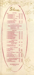 Hotel Claremont Berkeley, California, Menu 1957 page 2