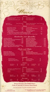 Hotel Claremont Berkeley, California, Menu 1957 page 3