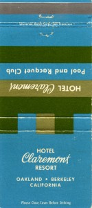 Hotel_Claremont_Resort_Oakland_Berkeley_California_Matchbook_Cover