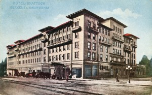 Shattuck Hotel, Berkeley, California, mailed 1918