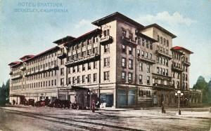 Shattuck Hotel, Berkeley, California, mailed 1918