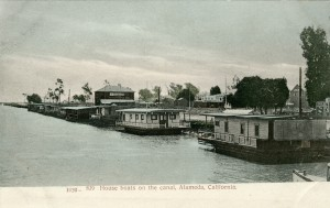 House boats on the canal, Alameda, California
