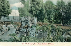 The Fountain, Idora Park, Oakland, California, mailed 1911