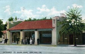 Entrance to Idora Park, Oakland, Cal., mailed 1908