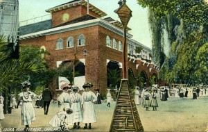 Idora Park, Theatre, Oakland, Cal., mailed 1909