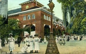 Idora Park, Theatre, Oakland, Cal., mailed 1909