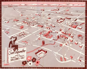 San Leandro, California Map 1954