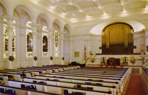 Interior of First Presbyterian Church, Alameda, California