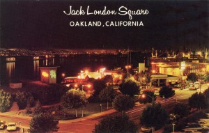 Jack London Square at night, Oakland, California
