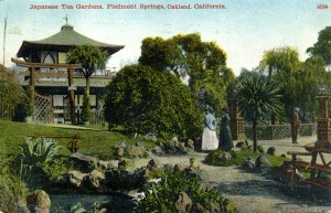 Japanese Tea Gardens, Piedmont Springs Oakland, mailed 1912