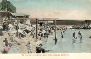 On the beach, Sunny Cove Baths, Alameda, California