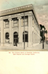 The Citizens Bank of Alameda, California. Safe Deposit and Storage Vaults.