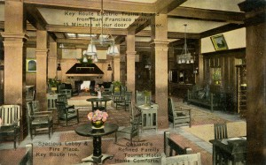 Key Route Inn, Spacious Lobby and Fire Place, Oakland, California