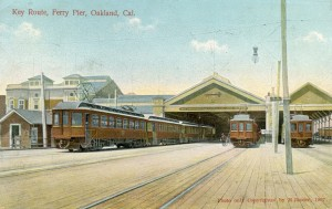 Key Route Ferry Pier, Oakland, Cal., mailed 1909