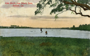 Lake Merritt, from Adam's Point, Oakland, California, mailed in 1908