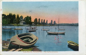 The Yachts at Anchor, Lake Merritt, Oakland, Cal.