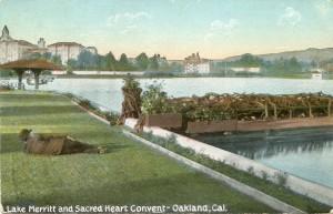 Lake Merritt and Sacred Heart Convent - Oakland, Cal.