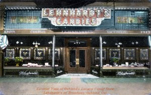 Lenhardt's Candy Store, on a busy afternoon, 1309 Broadway, Oakland, California