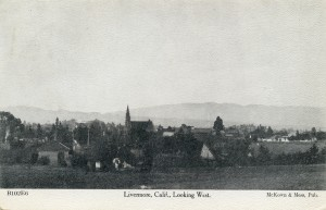 Livermore, Calf., Looking West, mailed 1908